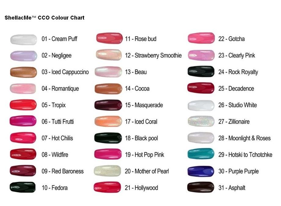 Цветов shellac cnd
